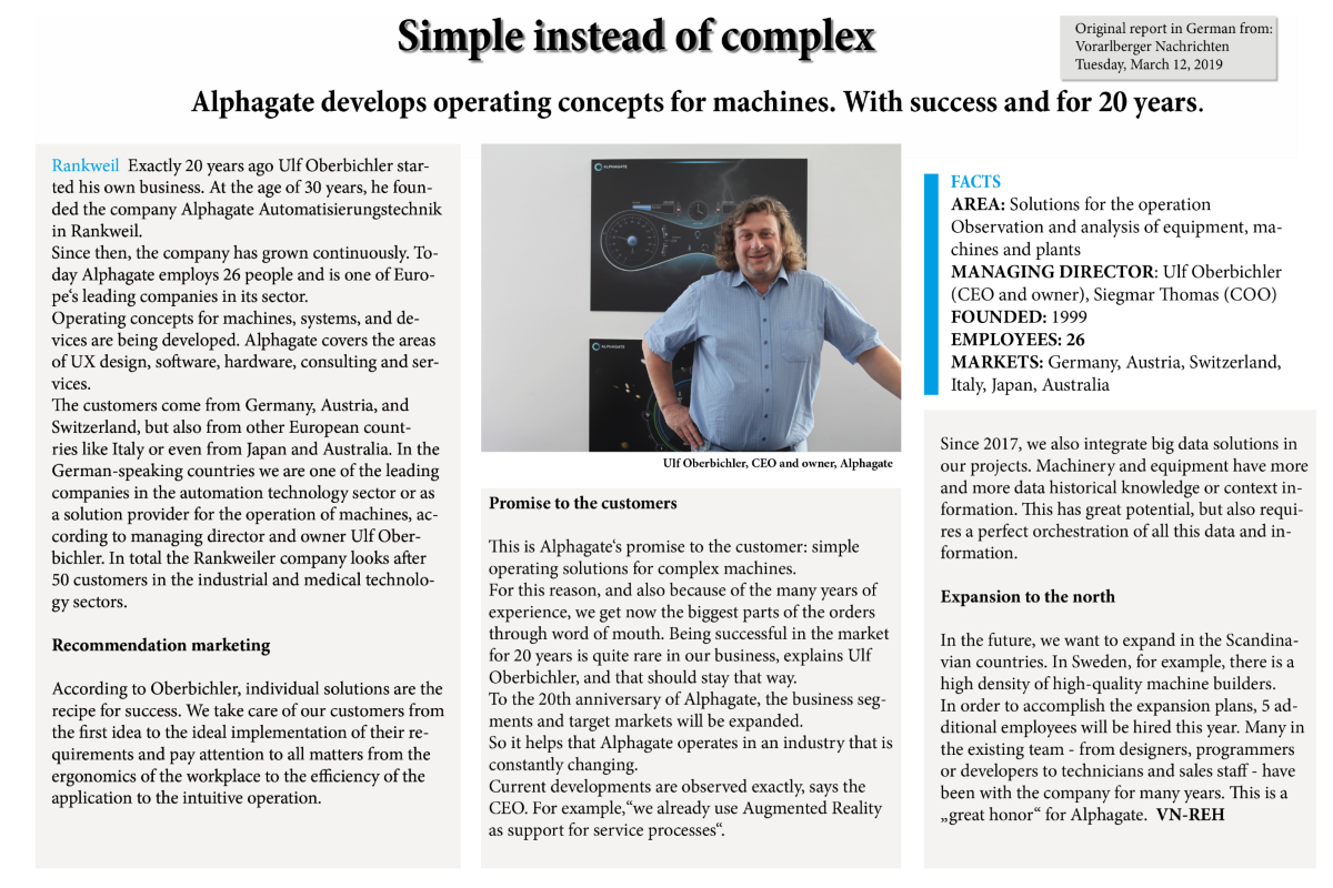 Simple instead of complex • Alphagate