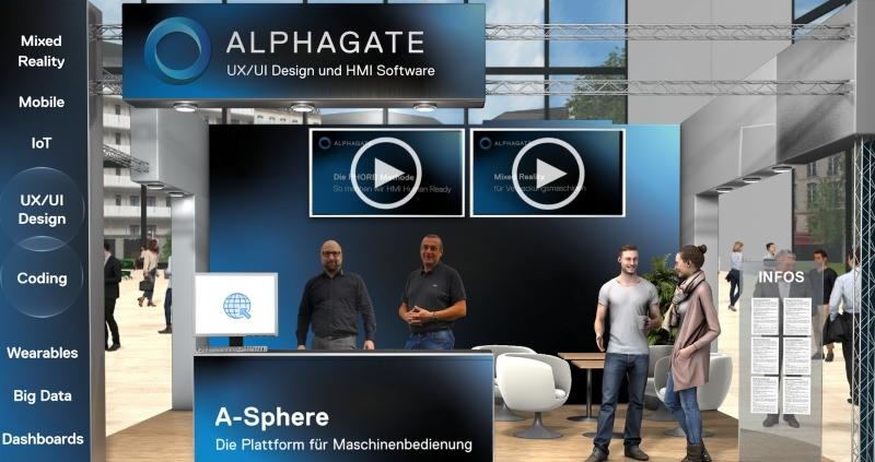 Alphagate Virtueller Messe Stand